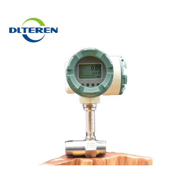 Threaded connection type liquid turbine flow meter with 4-20mA output 24VDC for water fuel vegetable oil