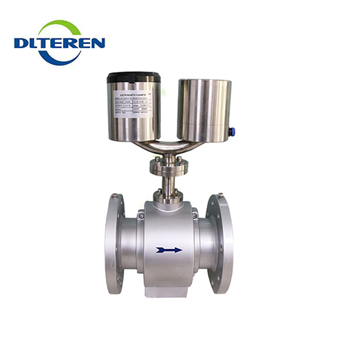 Battery powered flange connection electromagnetic flowmeter