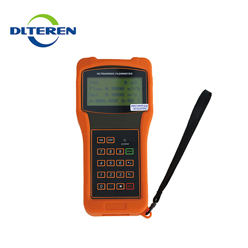 Quantity assured portable hand held ultrasonic transducer flow meter accuracy calculation