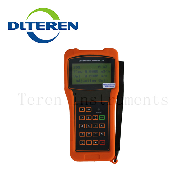 DTI-200H Handheld Water Flow Meter Portable Ultrasonic Flow Meter Clamp on Ultrasonic Flowmeter Price