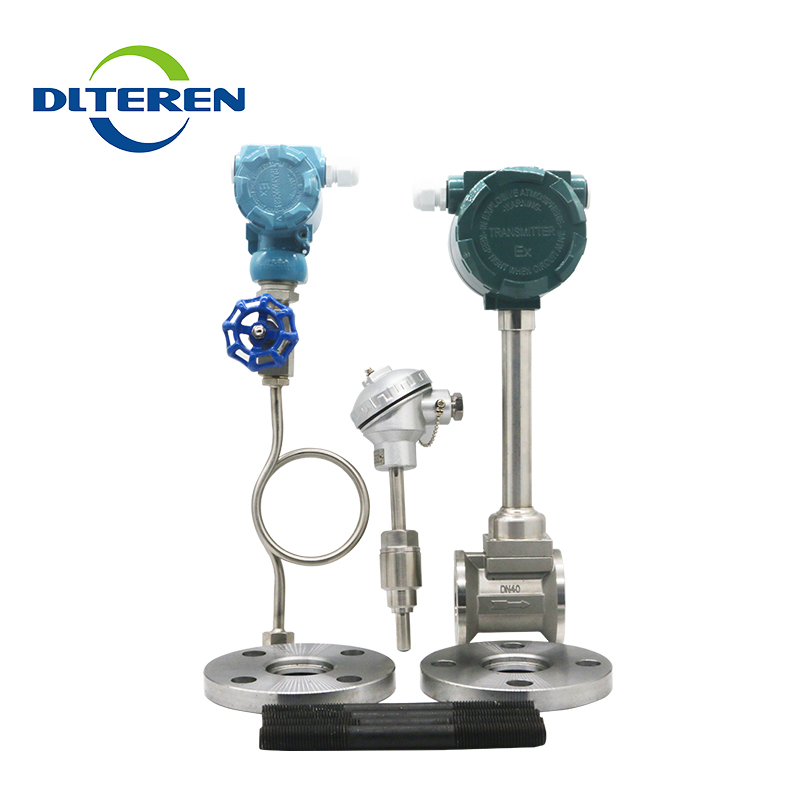 Better Design Temperature and pressure compensation vortex mass flow meter