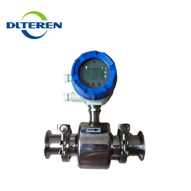 Sanitary tri-clamp stainless steel electromagnetic flow meter