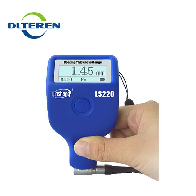 LS220 Thickness Meter Fe / NFe Coating Thickness Gauge Rang 0.0-2000