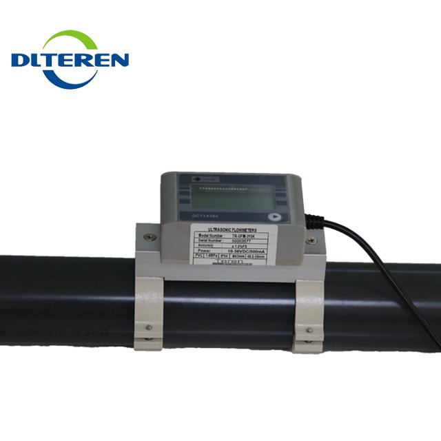 Easy to install Ultrasonic clamp-on flow meter water flowmeter